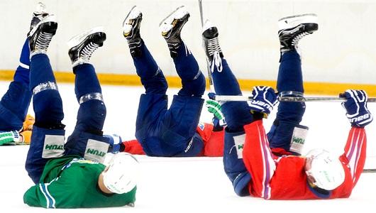 Отцы и дети. «Салават Юлаев» провёл тренировку на льду